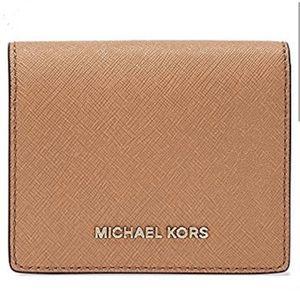 Authentic MK Saffiano Leather acorn wallet